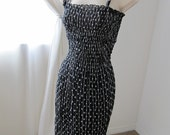 Black Dotted Strapped Dress (Large)