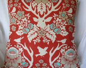 Joel Dewberry Antler Damask Terracotta Pillow Cover 18x18
