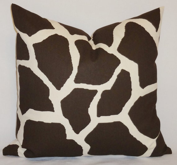Giraffe Decorative Pillow : Decorative Pillow Throw Pillow Brown/Off White Giraffe Pillow