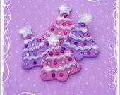 Little Jeweled Trees embellishments/ornaments set of 4