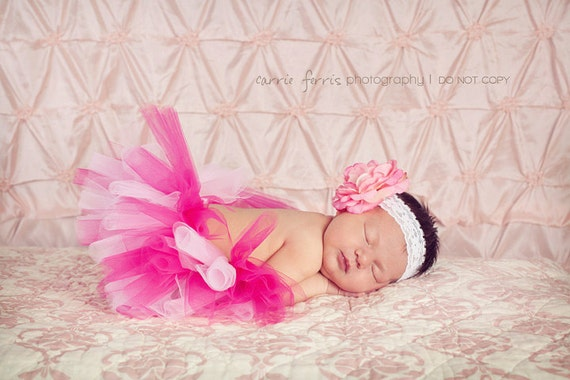 Newborn Fuchsia and Light Pink tutu