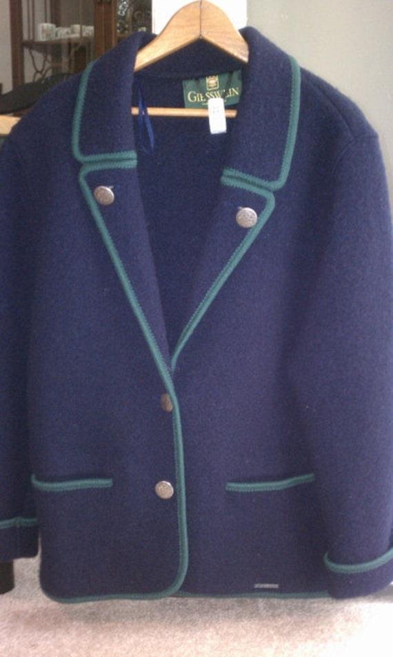 Heavy Boiled Wool Jacket Geisswein from Austria