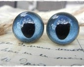 15mm Denim Blue Pearl Cat Safety Eyes for doll bear 10 Pieces Plastic eyes