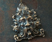 GOTHIC GREENMAN PENDANT, Welded, No Hollow Backing, Qualtiy Component, Limited
