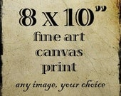 """Canvas Photo Wrap in Your Choice of Image, 8x10"""" Museum-Style Wall Art 1.5"""" Wrap Canvas, Ready to Hang"""