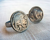 Buffalo nickel ring - Indian head ring, vintage coin jewelry