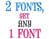 Buy ANY 2 Fonts, Get 1 FREE - Machine Embroidery Fonts - Regular Sizes ONLY