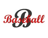 "Baseball Time Script Machine Embroidery Font - Sizes 1"",2"",3"",4"" BUY 2 get 1 FREE"