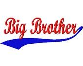 Baseball Swoosh - Big Brother - Machine Embroidery Design - 11 Sizes