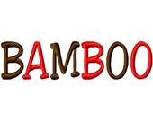 "Bamboo Machine Embroidery Font - Sizes 1"",2"",3"",4"" BUY 2 get 1 FREE"