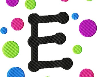 "Bubble Party Frame Alphabet Tinker Toys Font - Machine Embroidery - 3 different sizes - 4"",5"",6"""