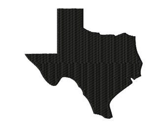 State of Texas - Machine Embroidery - 7 Sizes