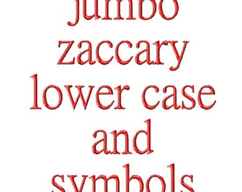 """JUMBO Zaccary Lower Case Letters - Machine Embroidery Font - Sizes 5"""",6"""",7"""" BUY 2 get 1 FREE"""