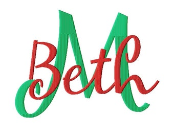 """JUMBO Mary Beth - Machine Embroidery Font - Sizes 5"""",6"""",7"""" and 5x7 Hoop - BUY 2 get 1 FREE"""