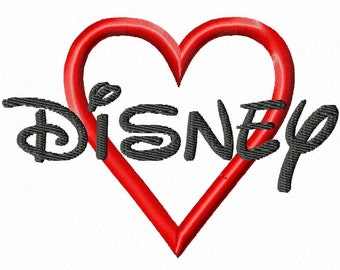 "Disney Machine Embroidery Font - Sizes 1"",2"",3"",4"" BUY 2 get 1 FREE"