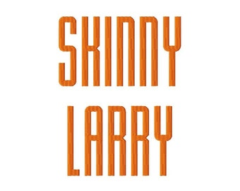 "Skinny Larry - Machine Embroidery Font - 1"",2"",3"",4"" - BUY 2 get 1 FREE"