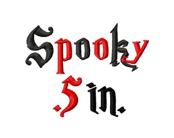 Mini Spooky Machine Embroidery Font - Sizes .5in. (half inch) BUY 2 get 1 FREE - Mini Fonts