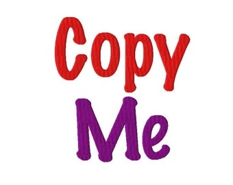 "Copy Me Machine Embroidery Font - Sizes 1"",2"",3"",4"" BUY 2 get 1 FREE"