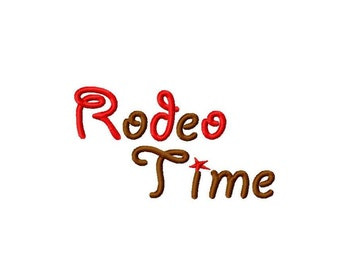 "Rodeo Time Machine Embroidery Font - Sizes 1"",2"",3"",4"" and 4x4 Hoop - BUY 2 get 1 FREE"