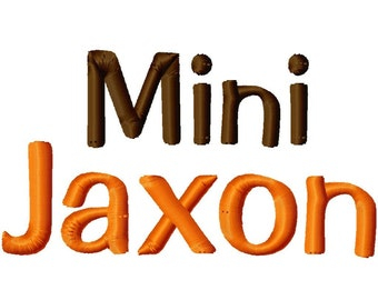 Mini Jaxon Machine Embroidery Font - Sizes .5in. (half inch) BUY 2 get 1 FREE - Mini Fonts