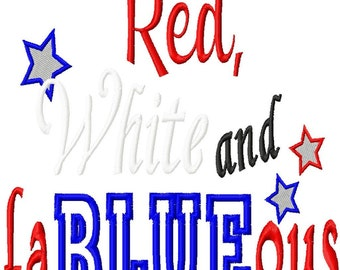 Red, White and faBLUEous - applique & reverse applique - Machine Embroidery Design - 5 Sizes