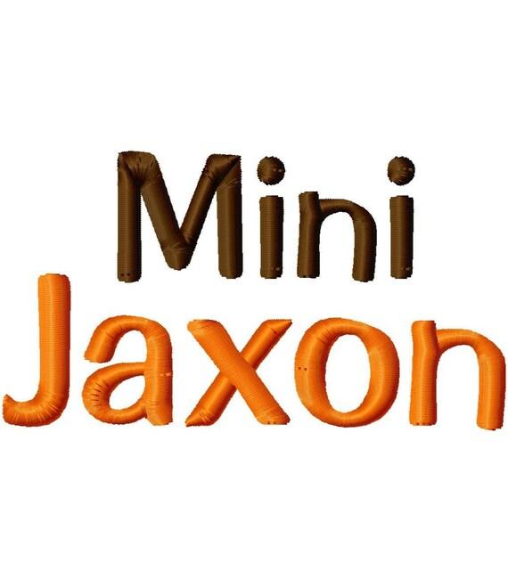 Mini Jaxon Machine Embroidery Font - Sizes .5in. (half inch) BUY 2 get 1 FREE - Mini Fonts