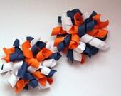 Chicago Bears Mini Korkers, Set of 2, 3 in korker bows