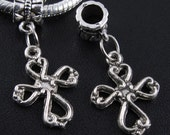 Cross Charms Dangle  Beads  Fits European Bracelets
