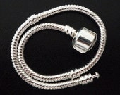 Silver Plated Snake Chain Bracelet for European Charm Bacelets
