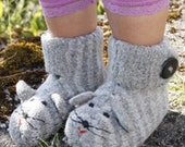 Felted DROPS mouse slippers in Alaska Made To Order Baby Toddler Booties Slippers