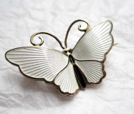 1940's David Andersen sterling Butterfly Pin Brooch