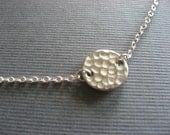 Hammered Disk Necklace