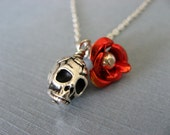 Rose and Skull Necklace