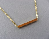 Tiny Gold Bar Necklace, Delicate, minimal, casual, everyday