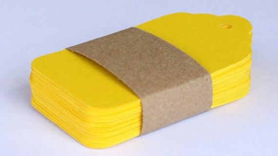 50 Tags Hang Tags Yellow Gift Tags