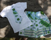John Deere Tie Shirt and Shorts- 6 months to 4t