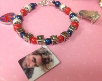 Robert Pattinson Brit Piano Themed Bracelet