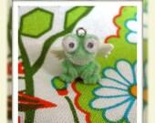 SALE Vintage Angel Frog Charm