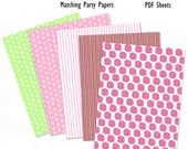 """Daisy Baby Girl Shower - Paper Pack -8.5x11""""- DIY Party Printables - INSTANT DOWNLOAD and Print"""