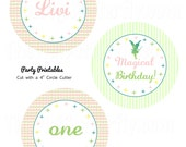 """Pixie Dust Fairy Party - Personalized 4"""" Party Circles - DIY Party Printables - Digital Download and Print"""