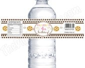 Cookies & Milk  Party - Personalized Water Bottle Labels - DIY Party Printables - Digital Download and Print