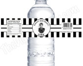 Forever Young Party - Personalized Water Bottle Labels with PHOTO - DIY Party Printables - Digital Download and Print