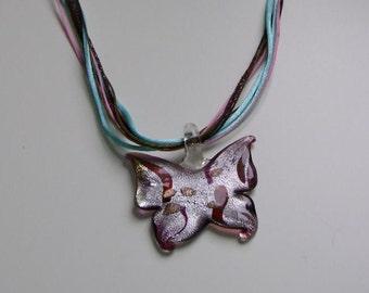 Butterfly glasswork pendant