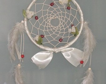 "5"" White floral Dream Catcher"
