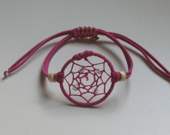 Fuchsia dream catcher bracelet