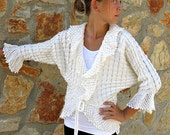 Romantic White Lacey Cover Up (cardigan,jacket)