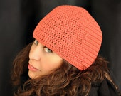 Coral Cotton Skullcap