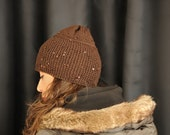 Chocolate Brown Hat with Sequins