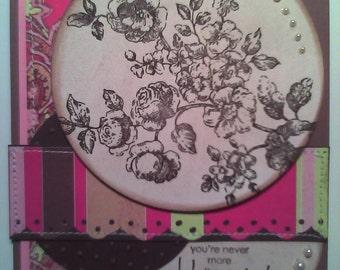 Handmade Shabby Chic Greeting Card--Thinking of You
