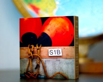 Bamboo Block, Pier, Boardwalk, Buoy, Nw, living room, wall art, wood, print, original photography, pacific, nautical, boat, water, rope,